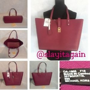 """50%OFF MICHAEL KORS """"Karson"""" Leather Carryall Tote"""